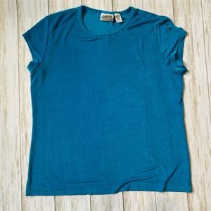 Chico's travelers turquoise top xl size 3